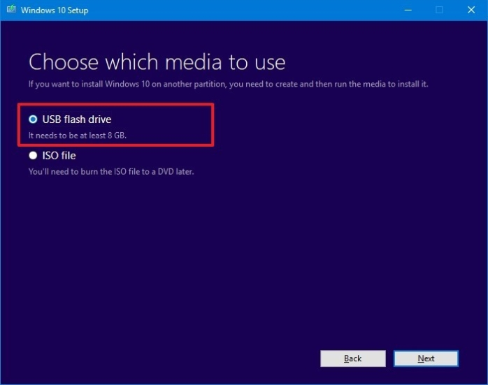select media