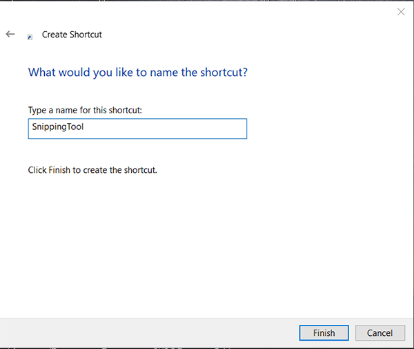 shortcut name