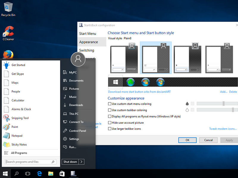 start menu replacements for windows 10