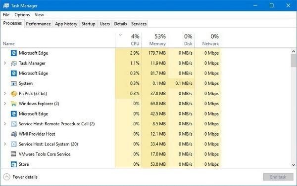 task manager desktop other apps