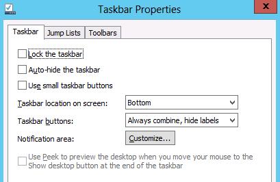 toolbars tab
