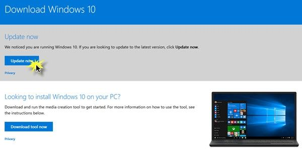 update windows 10 1607