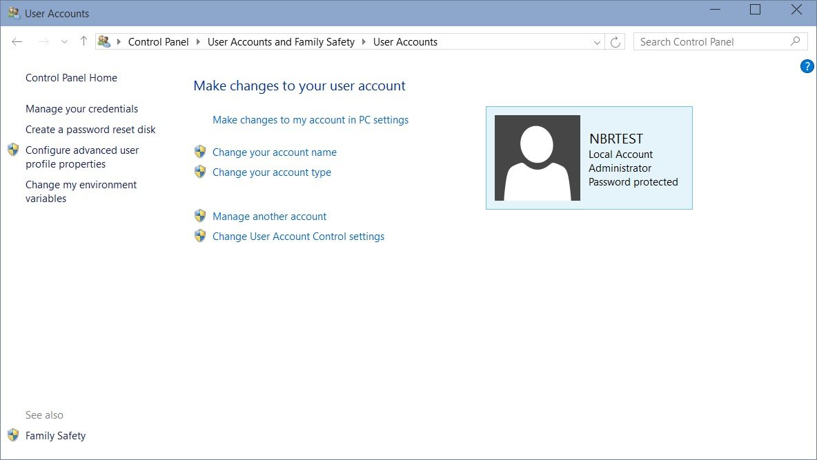 reset another users password windows 10
