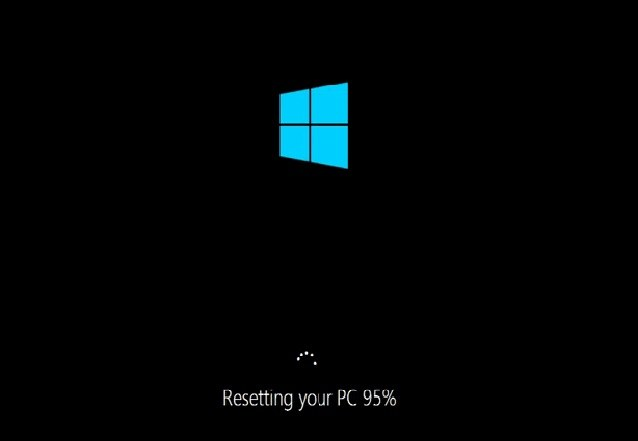 Windows 10 resetting PC