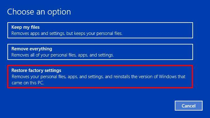 Windows 10 restore-factory-settings