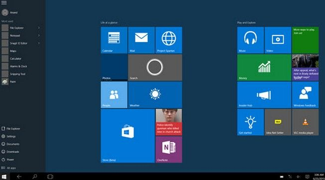 how to use windows 10 start screen instead of start menu