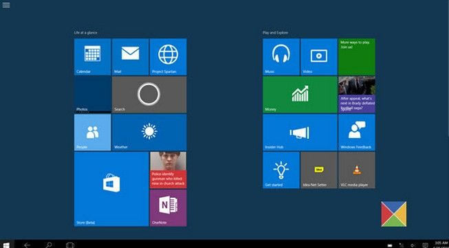 how to make windows 10 switch between start menu and start screen