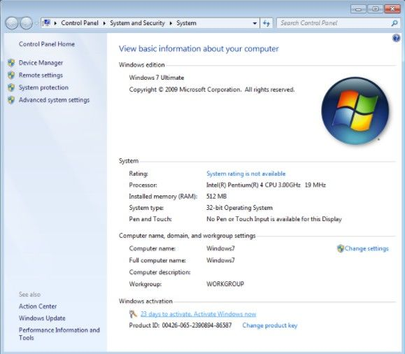 activation windows 7 telephone