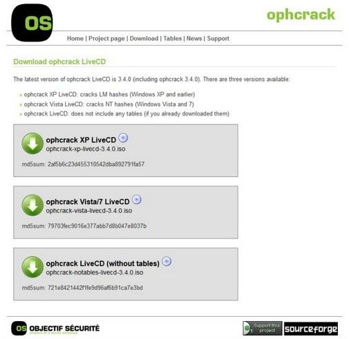 How to Use Ophcrack on Windows 7 for Password Reset