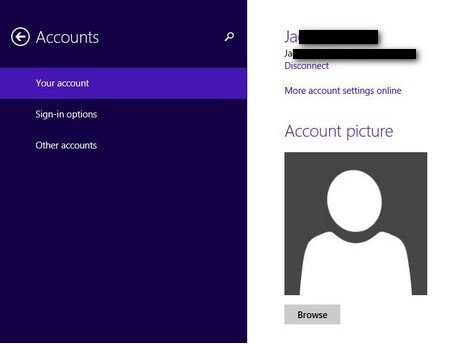 how to change email microsoft account windows 8