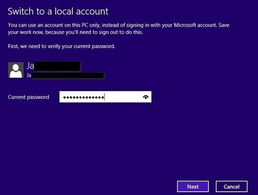 How to change email address password