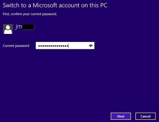 change email address to access windows 8