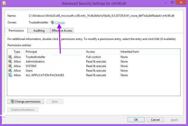 add take ownership option in files and folders context menu in windows 8