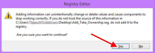 add the take ownership option to context menu in windows 8.1