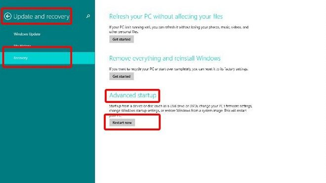 How to Disable UEFI Secure Boot in Windows 8 1/8