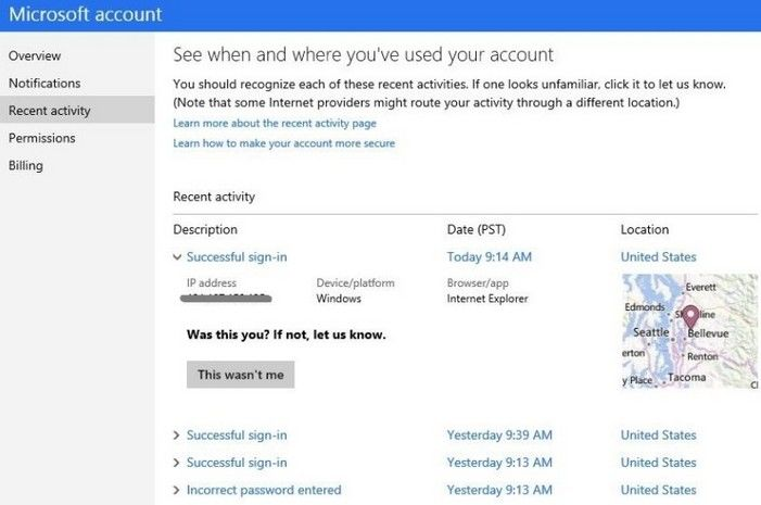 protect microsoft account secure