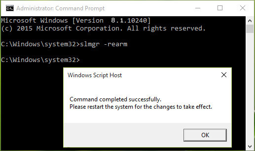 fix windows 8.1 license expires issue on windows command