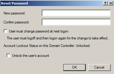 new password