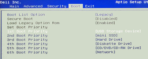 Dell Boot Menu Key Windows 7