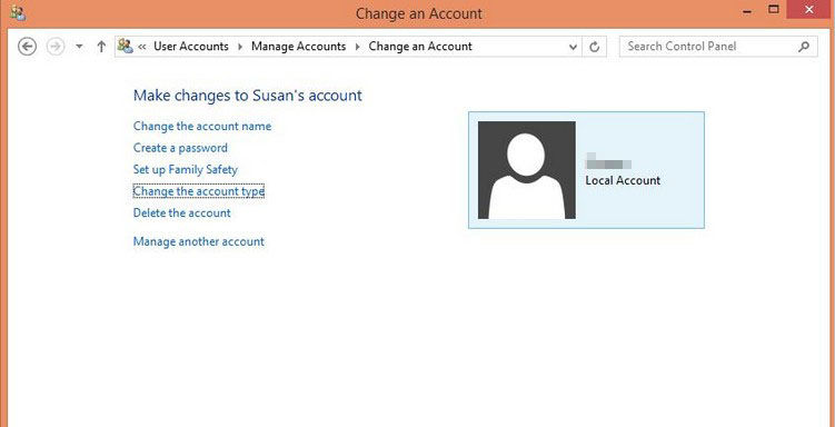 make a user account an administrator in windows 8