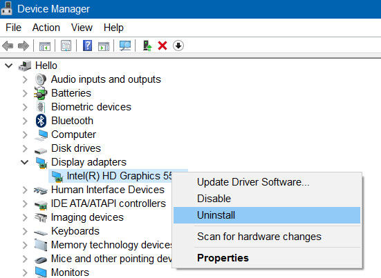 Tutorial] How to Reinstall Display Adapter Driver in Window 10