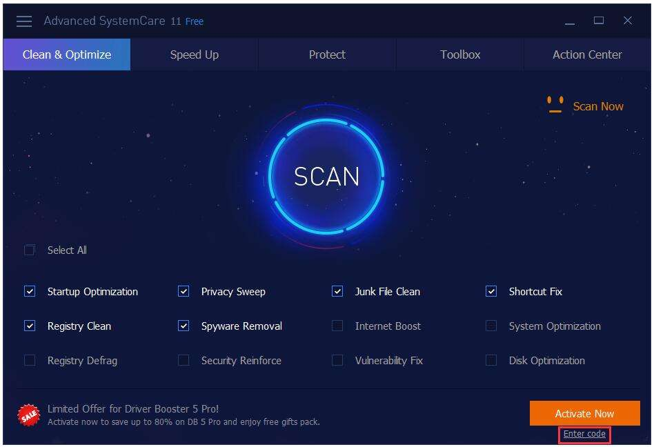 iobit advanced systemcare 11 free