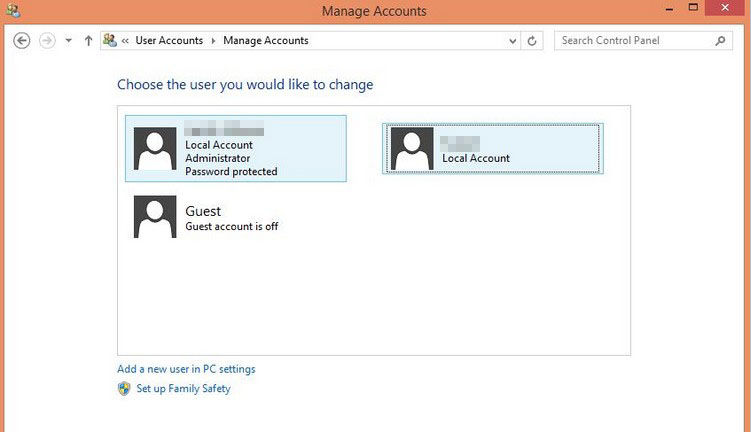 change a user's account type in windows 8