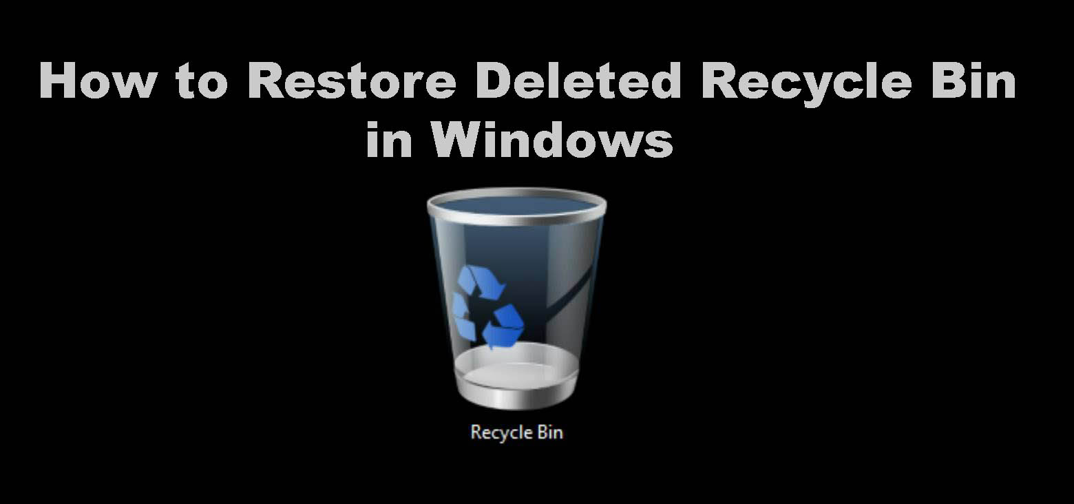 restore deleted recycle bin in windows