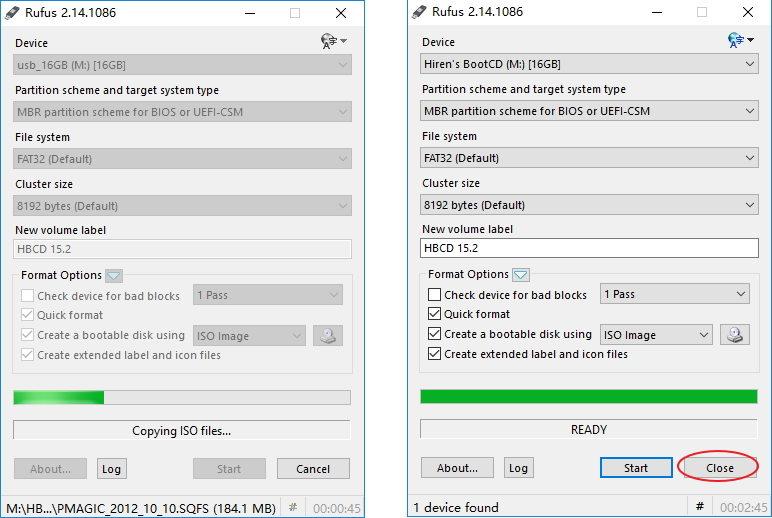 hirens boot cd windows 10 usb