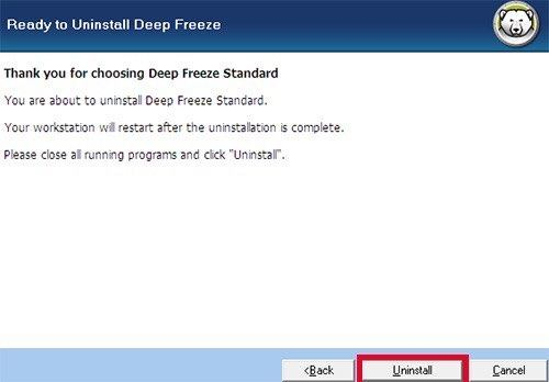 How to Remove Deep Freeze Without Password on Windows 10/8 1/8/7