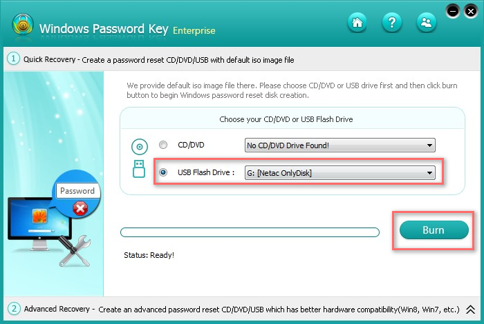 password reset bootable usb windows 7